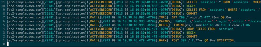log4r output